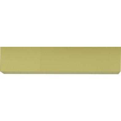 Meuble horizontal suspendu design jaune en panneaux de particules mélaminés de haute qualité L. 139 x P. 31 x H. 29 cm  Collection Mollie