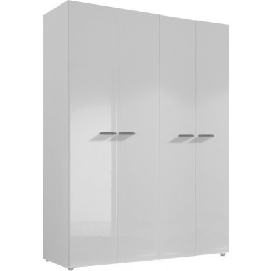 Armoire adulte blanc design L. 159 x P. 53 x H. 214 cm collection Houkes