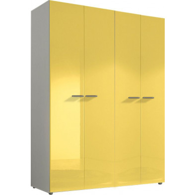 Armoire adulte jaune design L. 159 x P. 53 x H. 214 cm collection Kitchener