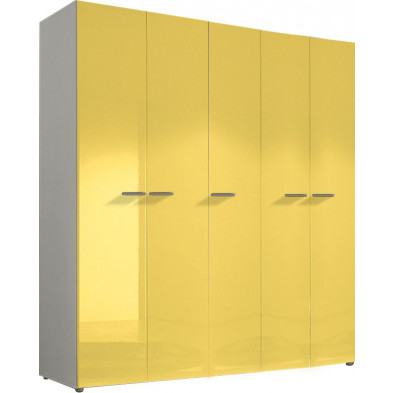 Armoire adulte jaune design L. 158 x P. 53 x H. 214 cm collection Kitchener
