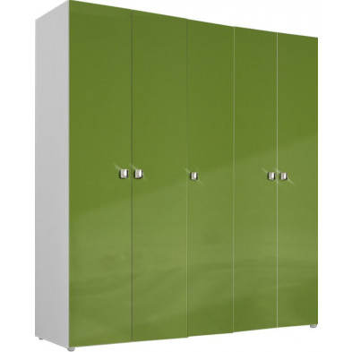 Armoire adulte vert design L. 158 x P. 53 x H. 214 cm collection Meby