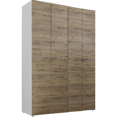 Armoire adulte marron design L. 159 x P. 53 x H. 240 cm collection Mountain