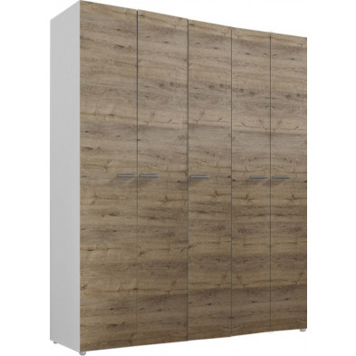 Armoire adulte marron design L. 158 x P. 53 x H. 240 cm collection Mountain