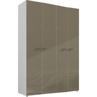 Armoire adulte beige design L. 159 x P. 53 x H. 240 cm collection Abigael