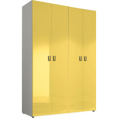 Armoire adulte jaune design L. 159 x P. 53 x H. 240 cm collection Kitchener