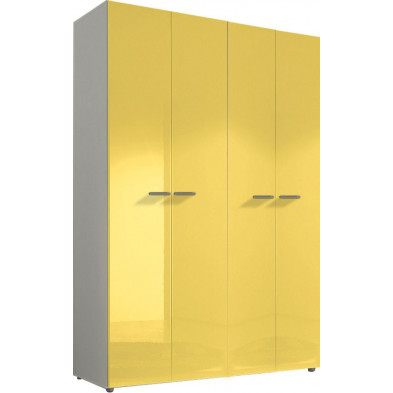 Armoire adulte jaune design L. 159 x P. 53 x H. 240 cm collection Kitchener