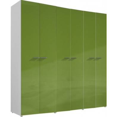 Armoire adulte vert design L. 237 x P. 53 x H. 240 cm collection Meby
