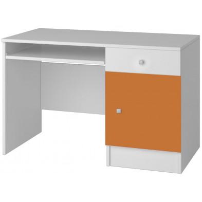 Bureau enfant blanc moderne en panneaux de particules de haute qualité L. 110 x P. 50 x H. 76 cm collection Elsendorp