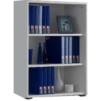 Meuble étagère blanc design en panneaux de particules mélaminés de haute qualité L. 90 x P. 42 x H. 110 cm collection Ryo