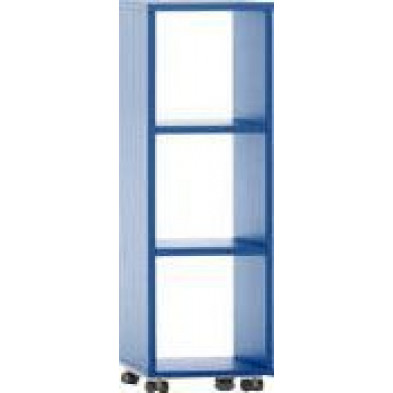 Meuble étagère bleu design en panneaux de particules mélaminés de haute qualité L. 40 x P. 35 x H. 120,2 cm collection Inscribe