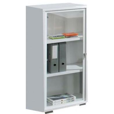 Meuble de rangement blanc design en panneaux de particules mélaminés de haute qualité L. 47,7 x P. 42 x H. 110 cm collection Ryo