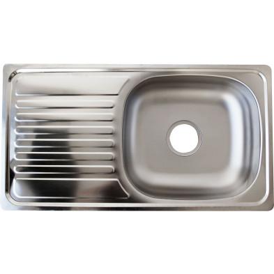 Evier cuisine à encastrer 1 bac 75X40 cm en acier inoxydable brossé forme rectangulaire collection Elizabethton