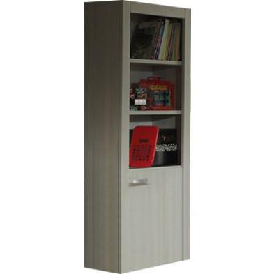 Bibliothèque gris design en  panneaux de particules de haute qualité : L. 82 x P. 35 x H. 200 cm collection Kicky
