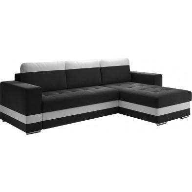 Canapés d'angle convertibles noir design en acier 4 places L. 258 x P. 82 x H. 75-80 cm collection ELENA