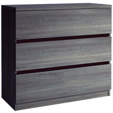 Commode - coiffeuse marron contemporain en panneaux de particules de haute qualité L. 100 x P. 45 x H. 100 cm collection Piperhall