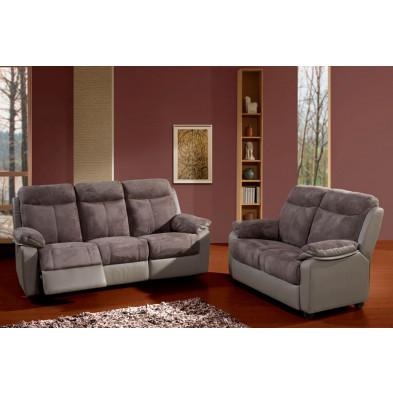 Fauteuil gris contemporain en microfibre   1 place L. 98 x P. 91 x H. 101 cm collection Creetown