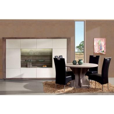 Ensemble salle à manger complète  blanc contemporain collection Veurne