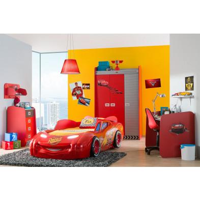 Composition chambre enfant Disney Cars avec lit voiture   collection