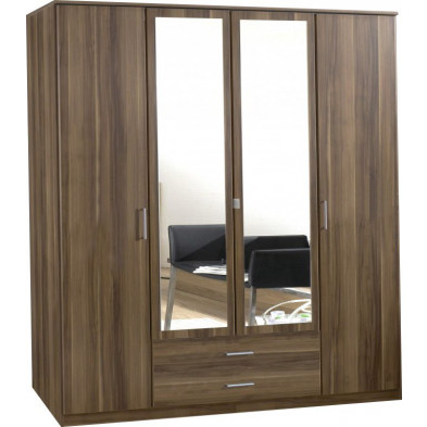Armoire adulte marron contemporain L. 180 x P. 58 x H. 199 cm collection Lever