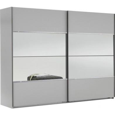 Armoire porte coulissante blanc design collection Quintilio