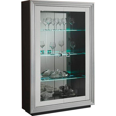 Vitrine noir design L. 115 x P. 48 x H. 192 cm collection Regen