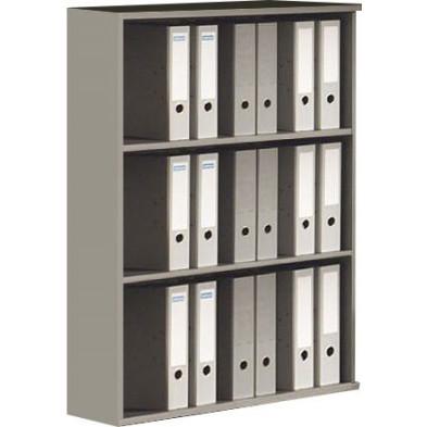 Meuble étagère gris contemporain en panneaux de particules mélaminés de haute qualité L. 90 x P. 42 x H. 116 cm  collection Aurelia