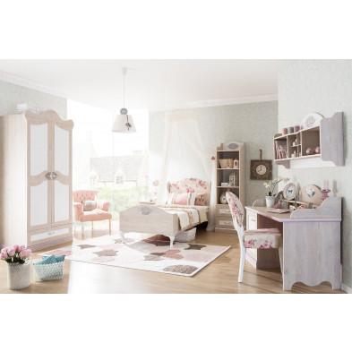 Chambre enfant complète blanc romantique en collection Lugros