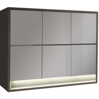 Rangement marron moderne en panneaux de particules de haute qualité L. 189,2 x P. 48 x H. 145,1 cm collection Hoornweg
