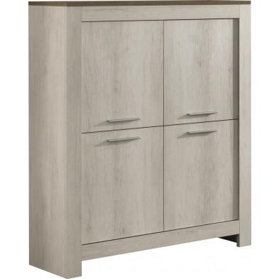 Argentier - meuble bar beige contemporain L. 112 x P. 45 x H. 144 cm collection Jaafar