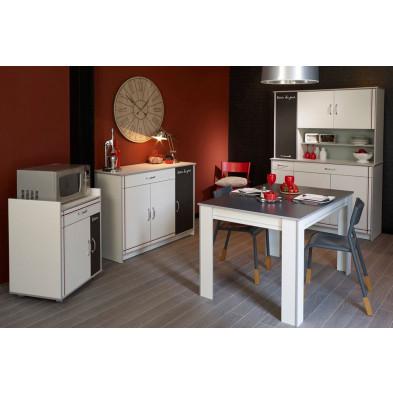 Composition cuisine équipée moderne coloris blanc en panneaux de particules de haute qualité Collection Bagnaria