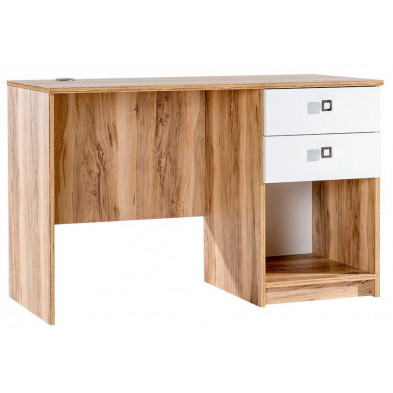 Bureau enfant marron contemporain en 121 cm de largeur collection Schauenstein