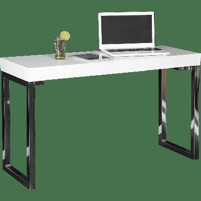 Bureau Design rectangle blanc laqué de L. 120 x P. 40 x H. 75 cm collection Pacodomonte
