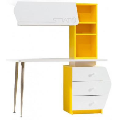 Bureau enfant blanc design en panneaux de particules de haute qualité cm de largeur collection Bursay