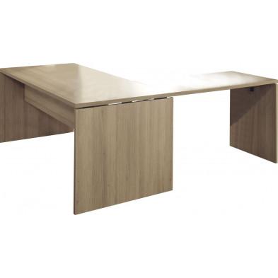 Bureau d'angle marron contemporain L 180 cm x H 75 cm x P 85 cm  collection Governor