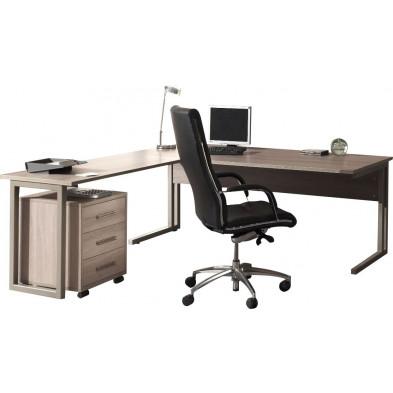 Bureau entreprise gris contemporain en cm de largeur collection Nijsink