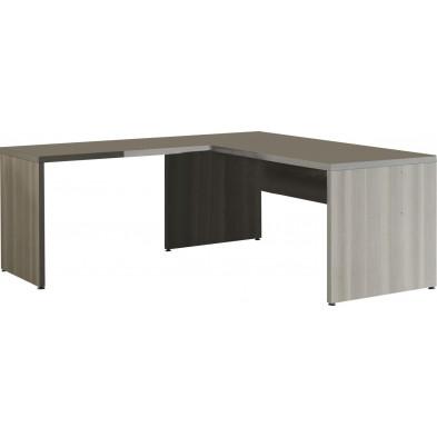 Bureau d'angle gris contemporain  L 180 cm x H 74 cm x P 80 cm collection Bioul
