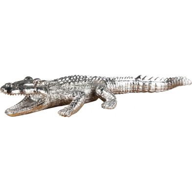 Déco design Crocodile argenté L. 43 x P. 17 x H. 6 cm collection Miloud