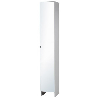 Colonnes moderne blanc en panneaux de particules mélaminés de haute qualité L. 29.5 x P. 31 x H. 185 Collection Moryas