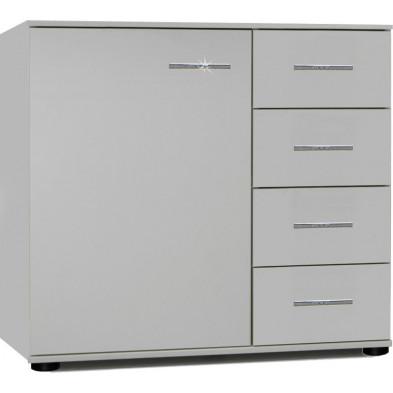 Commode blanc design en panneaux de particules mélaminés de haute qualité L. 81 x P. 41 x H. 83 cm collection Contest