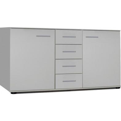 Commode blanc design en panneaux de particules mélaminés de haute qualité L. 130 x P. 38 x H. 82 cm collection Fifekeith