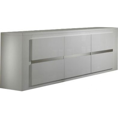 Buffet - bahut - enfilade blanc design L. 207 x P. 52 x H. 85 cm collection Portland