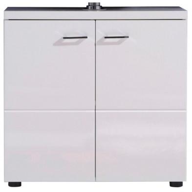 Meuble sous-vasque 2 portes coloris blanc L. 65 x P. 35 x H. 63 cm collection Klaaswaal
