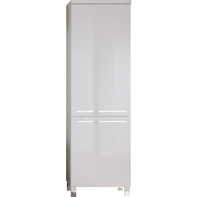 Armoire de rangement design à 2 portes coloris blanc L. 60 x P. 35 x H. 196 cm collection Villatoya