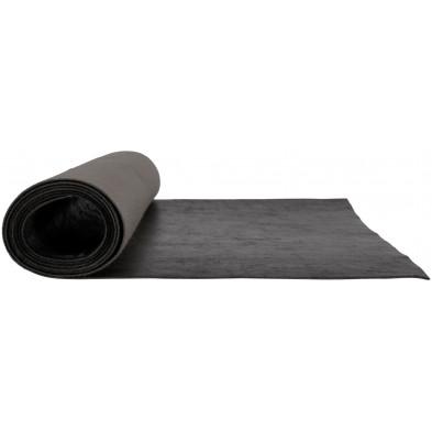 Nappe de table design noir en polyester L. 50 x P. 45 x H. 0.2 cm Collection Robison