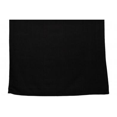 Nappe de table design noir en coton et polyester L. 150 x P. 45 x H. 0.01 cm Collection Cuddington