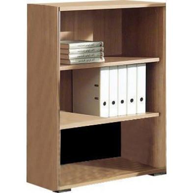 Meuble étagère marron contemporain en panneaux de particules mélaminés de haute qualité L. 90 x P. 42 x H. 110,8 cm collection Uersfeld