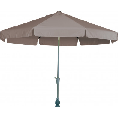 Parasol rond en aluminium et polyester Ø  300 cm coloris Taupe collection Giraldo
