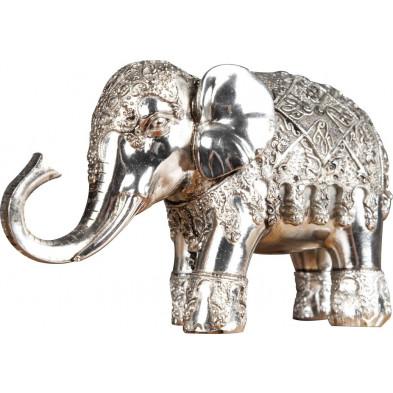 Déco design Éléphant argenté L. 7 x P. 22 x H. 13 cm collection Oomens
