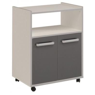 Meuble de rangement moderne gris en panneaux de particules de haute qualité L. 60 x P. 40 x H. 80 Collection Buttershaw