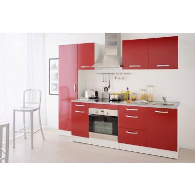 Cuisine complète moderne coloris rouge en panneaux de particules de haute qualité Collection Mirela